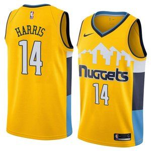 Denver Nuggets Gary Harris Yellow Jersey